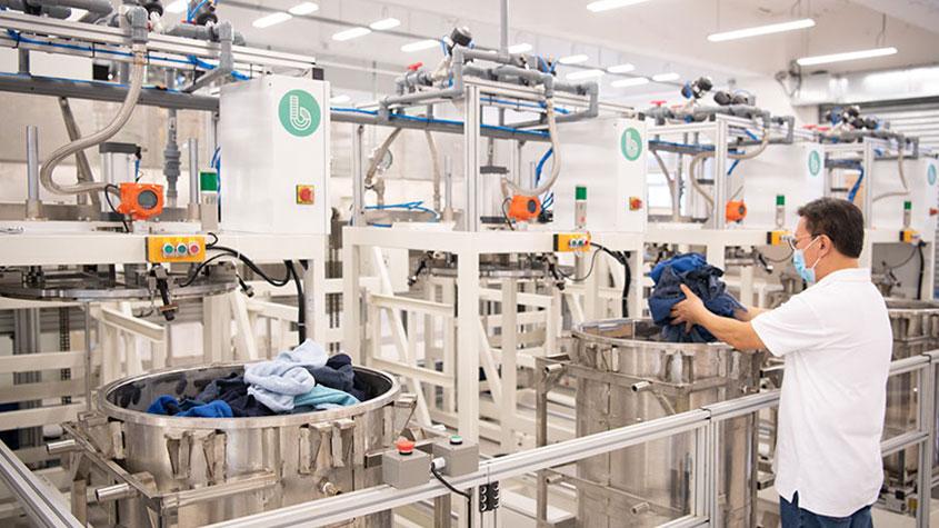 سیستم بیلی - مواد اولیه نساجی, محیط زیست, تکنولوژی نساجی, بازیافت پارچه